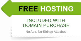 free hosting included with domain purchase